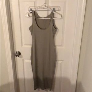 Gray body con midi dress